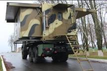 Command vehicle with a container-type body of variable capacity  Machaon