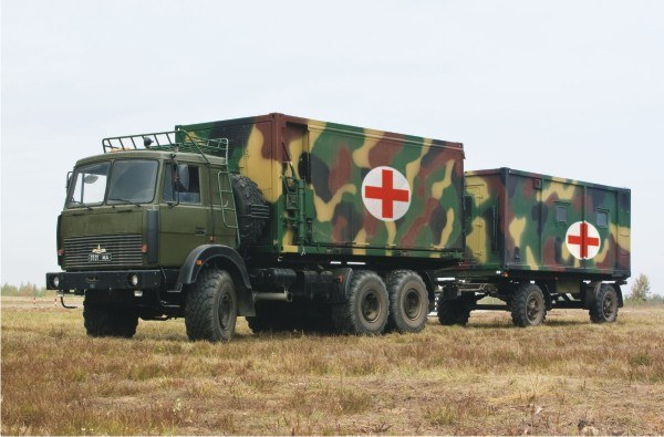 Mobile medical center of the unit