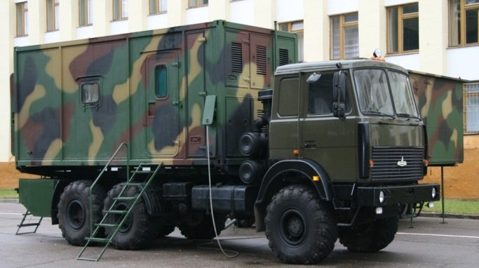 Command vehicle with a container-type body of constant capacity (VIP kitchen and canteen)
